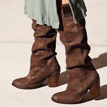 Kadın uyluk yüksek çizmeler moda süet deri yüksek topuklu Lace up kadın diz çizmeler üzerinde artı boyutu ayakkabı damla kargo 2019(China)