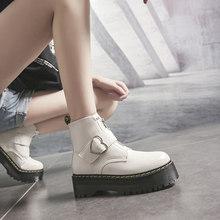 Yeni Kış Ayakkabı Kadın Botları Kadın Kışlık Botlar Martin Çizmeler Ayak Bileği çizmeler kadın ayakkabıları Deri Bota Kadın Patik Botas Mujer(China)