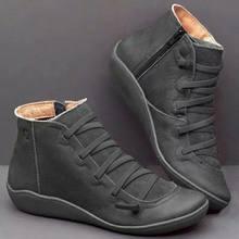 Fujin yarım çizmeler kadınlar için kış sonbahar moda kama düz alt katı platformu fermuar yuvarlak ayak eğlence kadın kısa çizmeler(China)