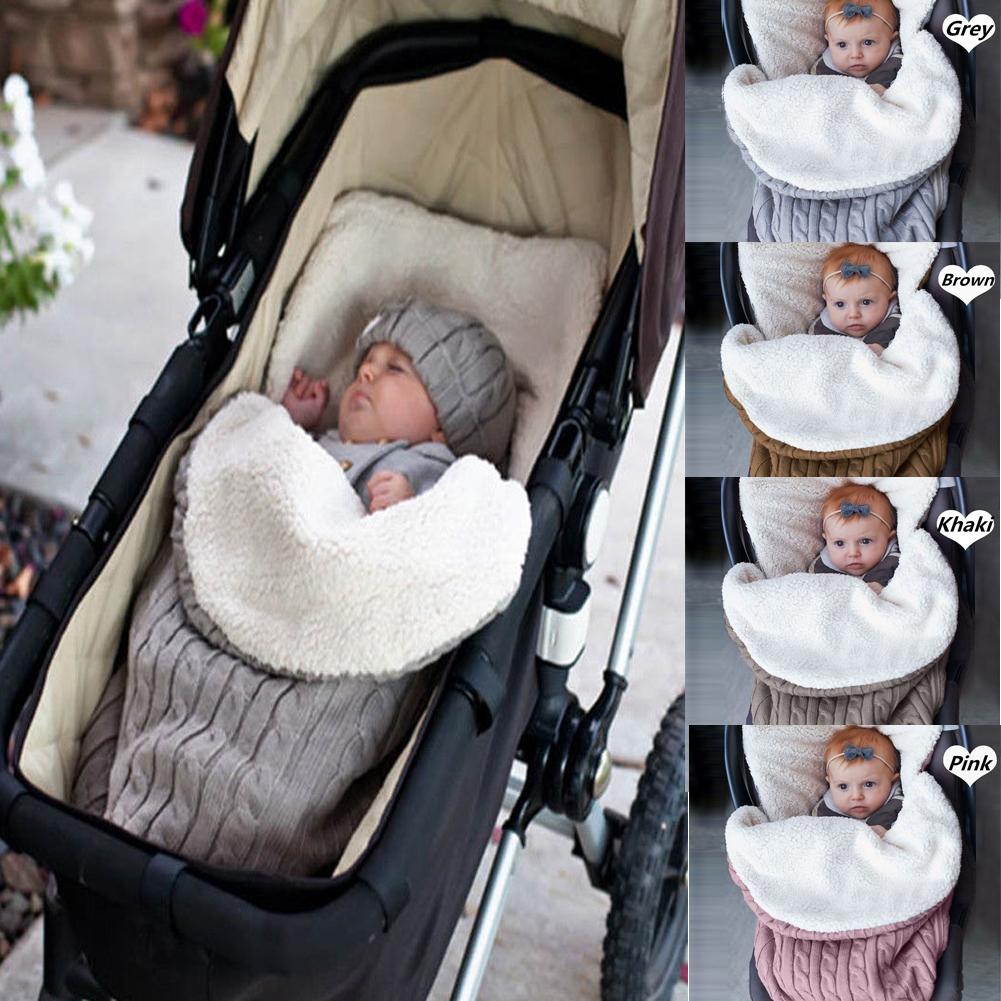 winter receiving wrap crochet toddler blanket Wool baby throw warm crib or pram afghan