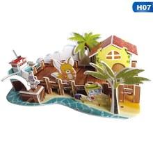 Classico Puzzle 3D Di Puzzle City Nuovo Castello Chiarisca Costruzione In Mattoni Giocattoli Bilancia Modelli Set Fatti A Mano di Carta di Costruzione(China)