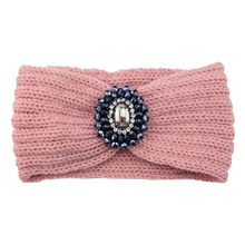 Pearl Women Knitted Headband Padded Woolen Turban Dress Headwear Winter Kawaii Crochet Head Wrap Girls Headbands Hair Accessorie(China)