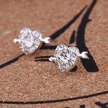 Pendientes de cristal 2019 para mujeres pendientes de circonia boda corazón flor estrella corona diamantes de imitación pendientes de perlas Brincos fiesta(China)