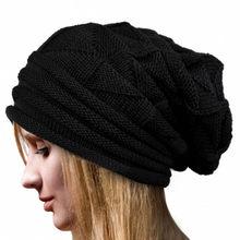 Vrouwen Baggy Warm Haak Winter Wol Knit Ski Beanie Skull Slouchy Caps Hoed Slouchy hoeden sombrero de invierno para hombre YH(China)
