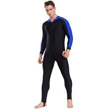 SBART UPF 50 + Lycra traje de buceo anti UV de una pieza protección contra el sarpullido traje de baño de manga larga traje de surf hombres mujeres protección del sol(China)