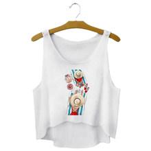 Kadın yaz süper anne kırpma üstleri köpek yavrusu Pet baskı yelek kolsuz t-shirt rahat kolsuz bluz bayan giyim(China)