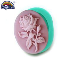 Çiçek silikon kalıplar kupa dekorasyon gül reçine polimer kil dekorasyon formu sıva mastik Aroma araba Craft yapımı roman(China)