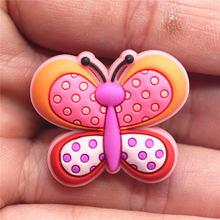 Imitación de mariposa y mariquita accesorios novedad 1 piezas jardín zapato Original Charms decoraciones fit Croc JIBZ regalos de los niños(China)