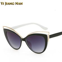 Женские солнцезащитные очки кошачий глаз по рецепту, очки с защитой от ультрафиолета, оправа, модный дизайн, Gafas De Sol Mujer, декоративные очки(Китай)