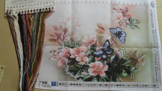 3D вышивка крестом комплект отпечатано бабочка цветы вышивка...