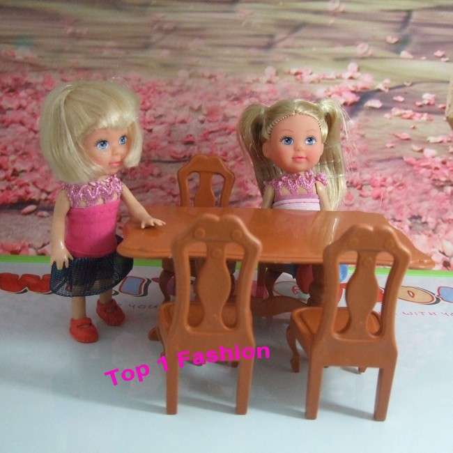 new arrival cute lady present toys furnishings for mini doll  desk and chair  for mini barbie kelly doll mini furnishings