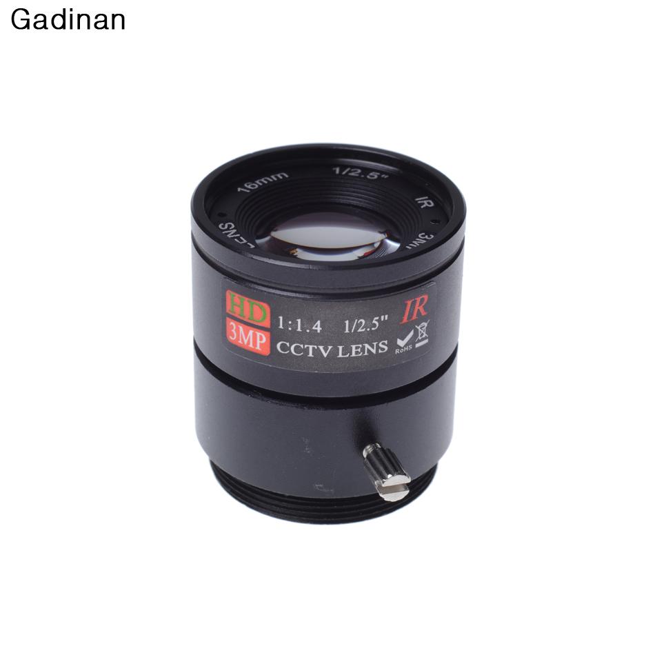 Gadinan 16MM 3MP CCTV Lens 1/2.5'' F1.4 CS Fixed IR 3.0 Megapixel CCTV Lens For IR 720P/1080P Security Camera(China (Mainland))