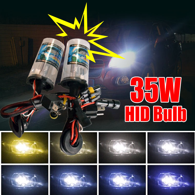 35W HID Xenon Headlight Conversion Bulbs H1 H3 H4 H7 880 881 9004 9005 9006 High Intensity Discharge Lamp 3000K 4300K 6000K(China (Mainland))