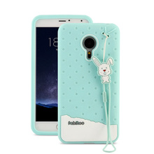 Fabitoo Fashion Lovely Cartoon Cute Silicon Case For Meizu Pro 5 Meizu MX5 Pro Soft Silicone Shell Back Cover With Lanyard