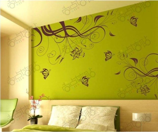 Flower Wall Decals Wall Paper House decorative poster Mural ...