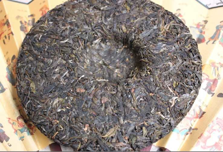 Puer tea health care 2012 brick unbuttressed pure material green cake the Chinese yunnan puerh 357g pu-erh the health green food cheap