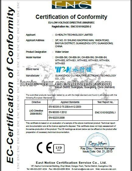 wholesale /alkaline water ionizer purifier OH-806-3H