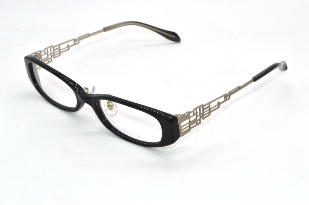 Handmade Optical alloy hollow temple Designer eyeglass ...