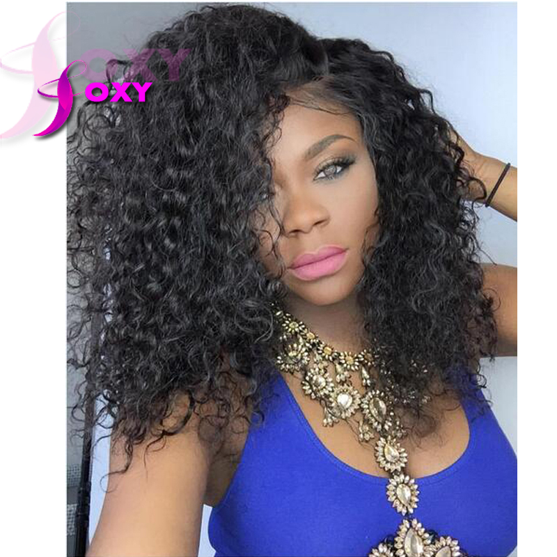 Beautiful 130/150 High Density Wavy Virgin Indian Remy Human Hair Full Lace Wigs For African Americans Natural Hairline(China (Mainland))