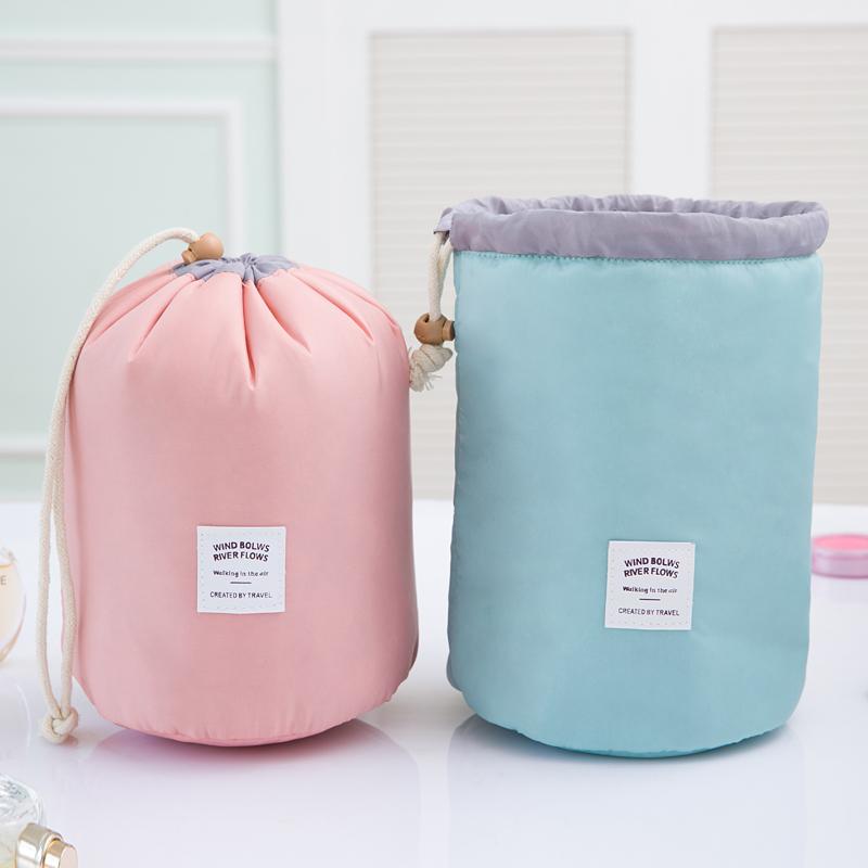 hanging Cosmetic Handbag Pouch Bag in Bag Organiser Insert Organizer Tidy Travel Cosmetic Pocket, pink blue ZL3259(China (Mainland))