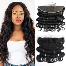 7A human hair full frontal lace closure 13×4 malaysian body wave ear to ear lace frontal closure with baby hair