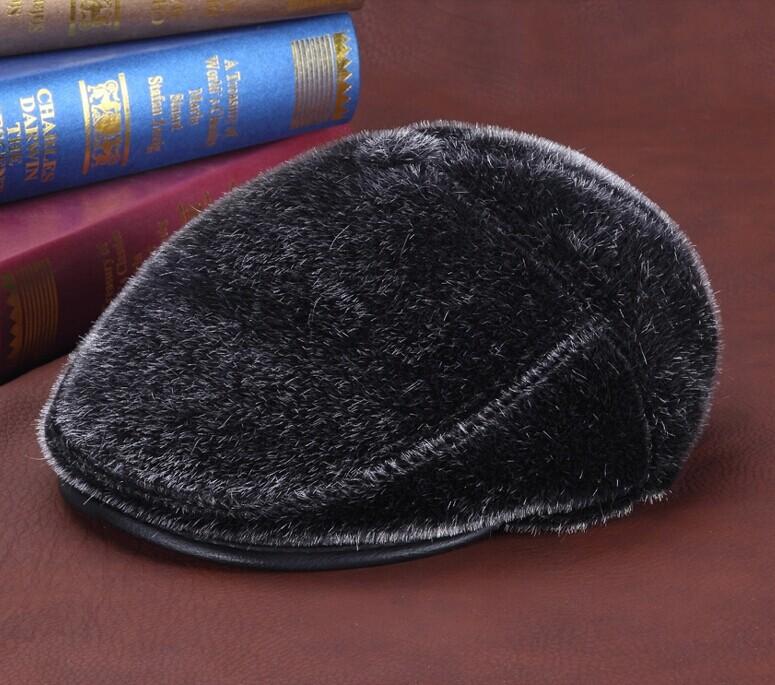 DL-10102 hot sale Quality seals wool hat male ear warm hat outdoor quinquagenarian winter fur hat 54CM-60CM(China (Mainland))