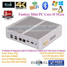 Mini PC Computer barebone system Mini Gaming Computer 12V Low Power PC Mini Desktop PC with Broadwell Intel Core i3 5010u 2.1GHz(China (Mainland))