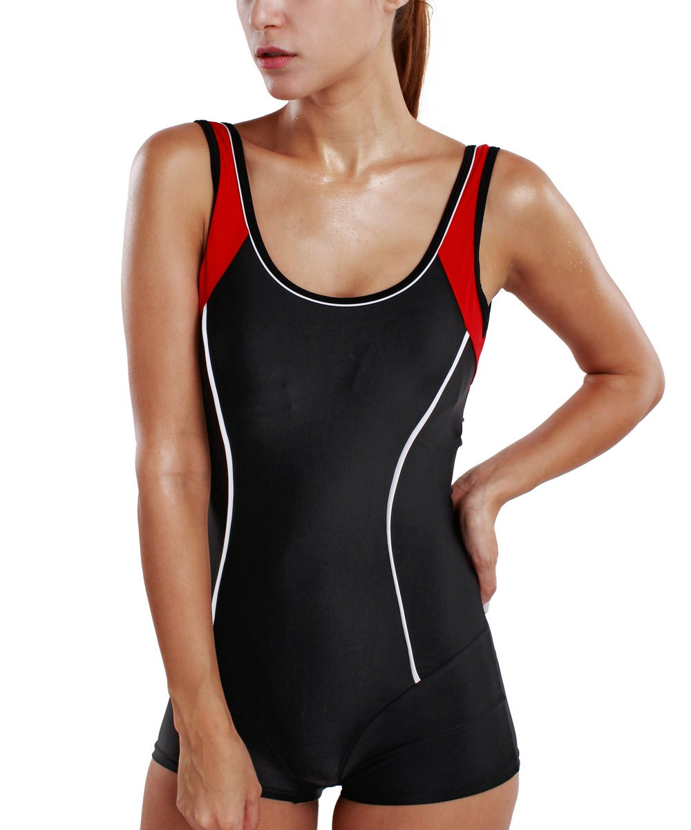women s one piece molded cup slimming jumpsuit swimsuit. Black Bedroom Furniture Sets. Home Design Ideas