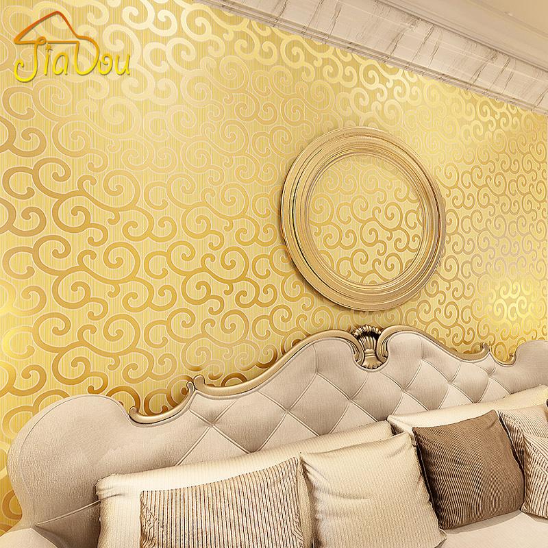 Tapeten Living Walls Golden Fleece : Klassische Goldfolie Tapeten Wolken Muster Goldenen Tapeten