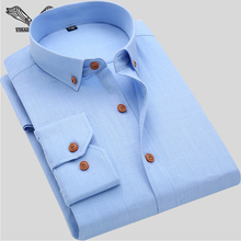 2016 New Fashion Brand Men Casual Shirt Solid Long Sleeve Collar Cotton Linen Nice Color Popular Designs Slim Fit S-XXXXL N811(China (Mainland))