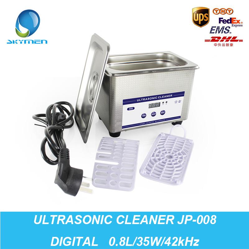 Digital Ultrasonic Bath Cleaning Machine Baskets Jewelry Watches Dental PCB 0.8L 35W 42kHz Ultrasound Cleaner Ultrasonic Cleaner(China (Mainland))