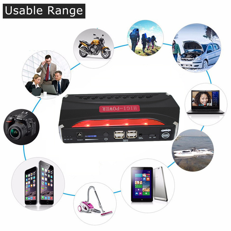Best Quality 68800mAh High Power Car Jump Starter Auto Engine Emergency Start Battery Portable Charger Phone Laptop Power Bank(China (Mainland))