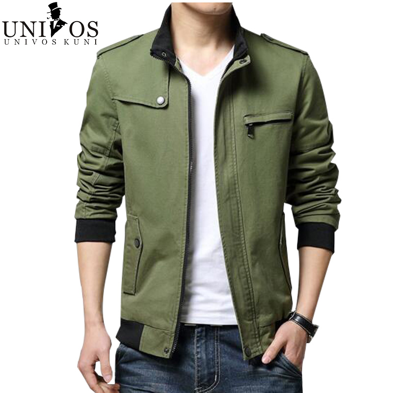 2016 Men Jacket Spring &Autumn Casual Stand Collar Military Jackets And Coats Casual Slim Fit Fashion Jaqueta Masculina Z2405(China (Mainland))