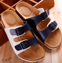 2016 summer men's casual beach cork sandals and slippers non-slip slippers