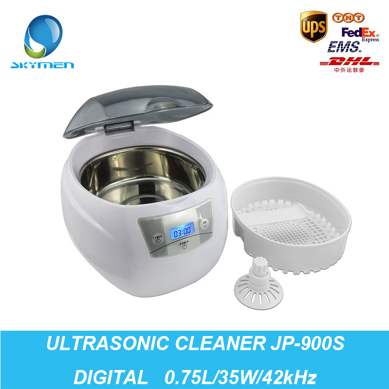 Ultrasound Cleaner 0.75L Tank 35W 42kHz Baskets Jewelry Watches Injector Ring Dental PCB Digital Ultrasonic Mini Cleaner Bath(China (Mainland))