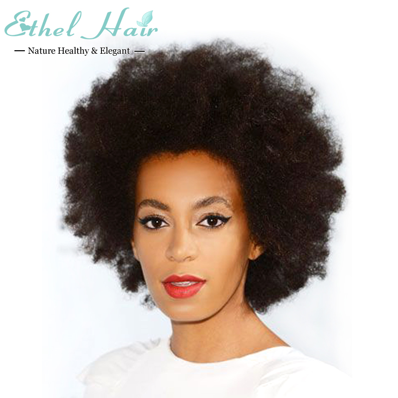 Glueless Full Lace Human Hair Wigs Afro kinky Curly Short Wig 100% Brazilian Virgin Hair Lace Front Hair Wigs For Black Women(China (Mainland))
