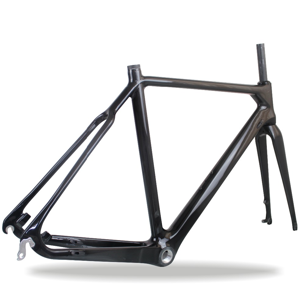52CM high quality carbon bicycle frame carbon cyclocross bike frame warranty 2 Years CX carbon frame(China (Mainland))