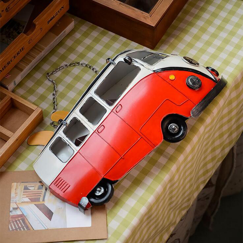 Hot Selling Wall decoration Metal vintage bus model /fashion brief modern wall hanging wall car Home Decorations(China (Mainland))