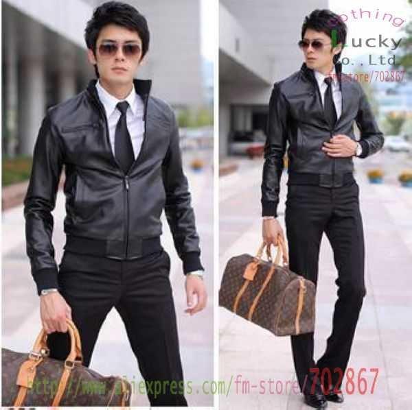 Slim Black Leather Jacket