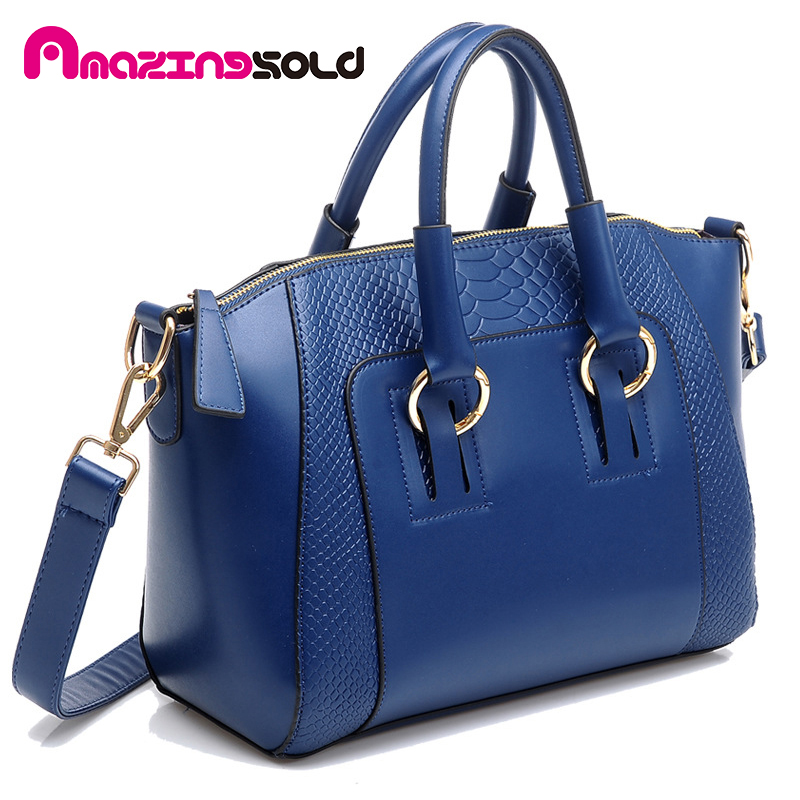 Annabelle Hanke brand women bag Solid handbag shoudler bags ladies pu leather tote bag(China (Mainland))