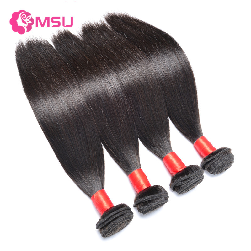 Fast Delivery Brazilian Virgin Hair Straight 4Bundles Rosa Hair Products Brazilian Virgin Grade 7A Cheap Unprocessed Hair Bundle