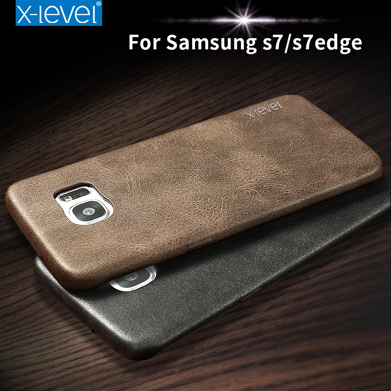 X-Level New PU Leather Phone Case For Samsung Galaxy S7 S7 edge Ultra thin Protective Back Cover For Samsung S7 S7 edge(China (Mainland))