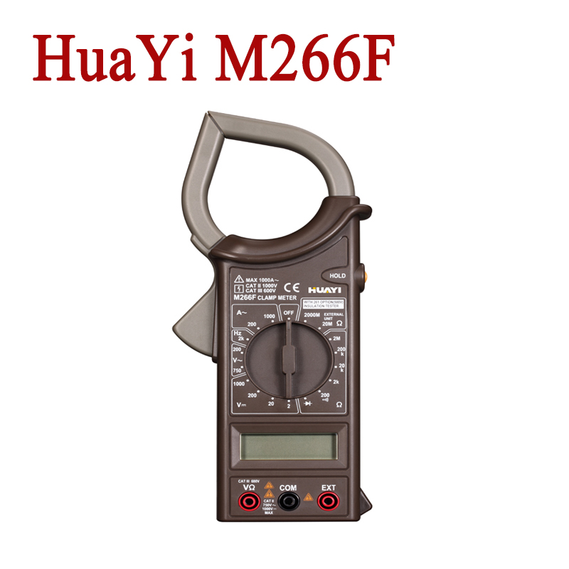 HuaYi M266F 2000Counts Digital Current Clamp Meter Insulation Tester Continuity Check And Data Hold<br><br>Aliexpress