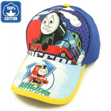 Cartoon animation super Thomas and Friends little train baseball sport cap hat for child kids boys(China (Mainland))