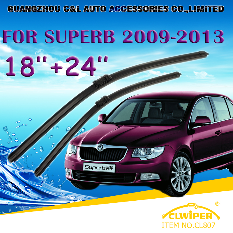 "For SKODA SUPERB (2009--2013), Exclusive Car Windshield Windscreen Wiper Blade 18""+24"" Fast shipping Cars styling accessories(China (Mainland))"