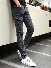 HOT 2016 Fashion Teenagers Boys trousers Halem Demin Slim men's jeans male thin slacks straight snowflakes little pencil pants