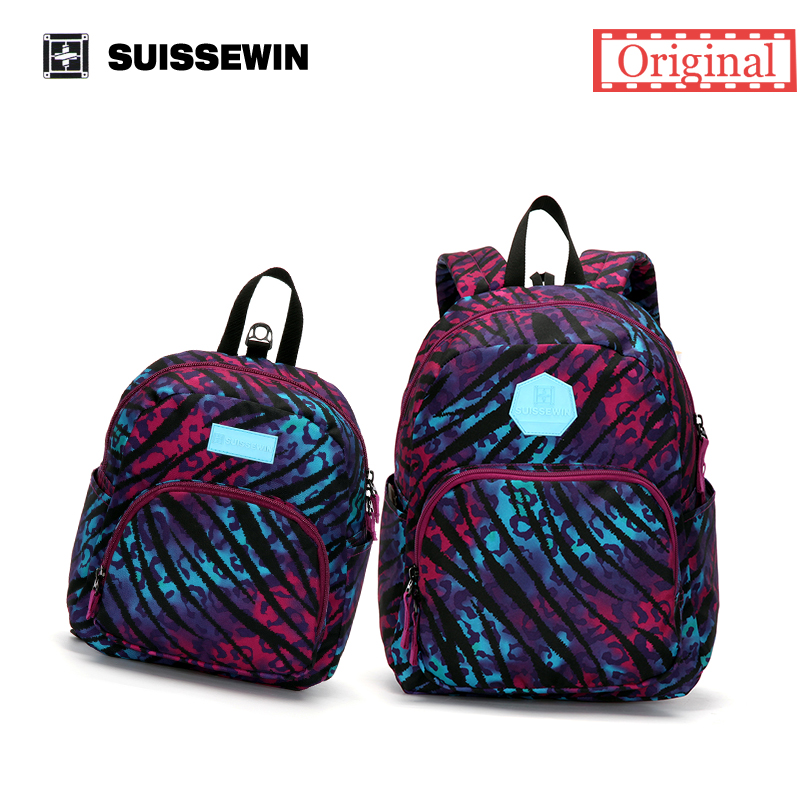 Suissewin Purple Parent-child Set Bag Family Backpack Set Baby Kids Backpack Anti-lost Kindergarten Bag Gift to New Parents<br><br>Aliexpress
