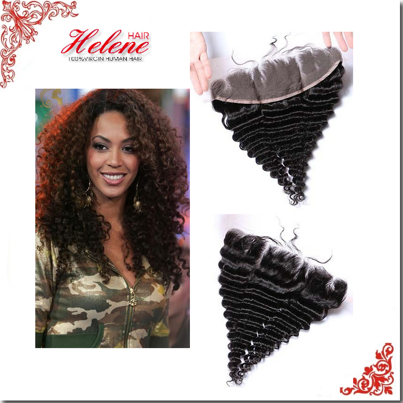 Hot Selling Malaysian Human Hair best virgin hair Deep Wave Lace Frontal Closure Classic Pop Free Middle Three Part Ear to Ear<br><br>Aliexpress