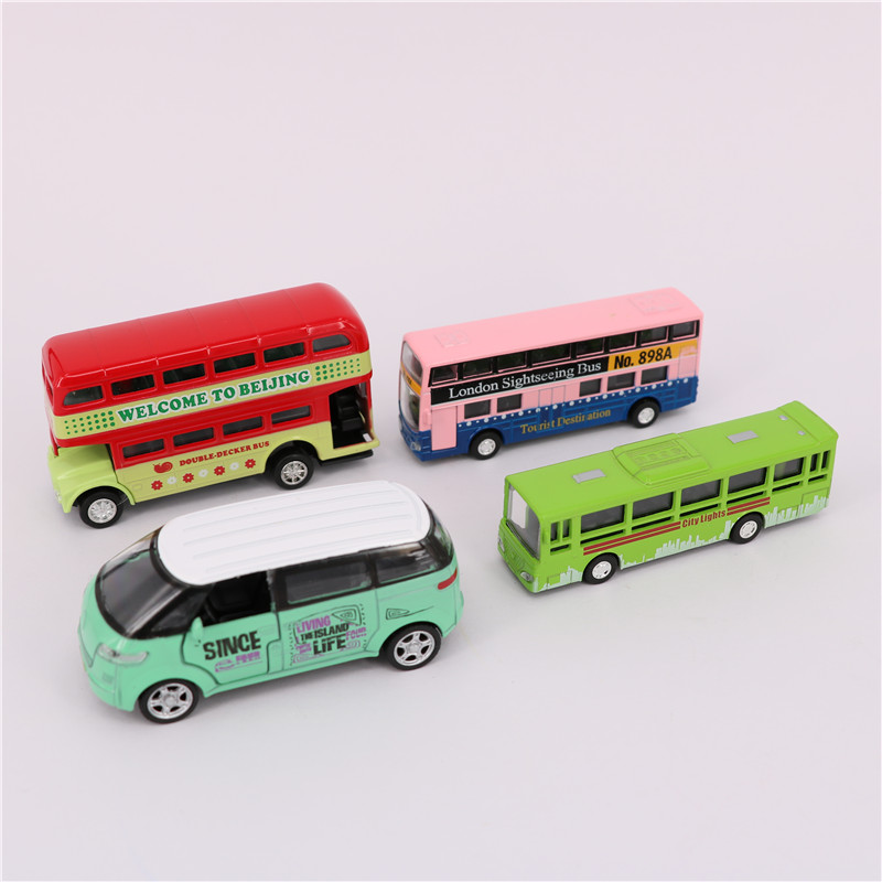 7-9cm Diecast Metal City Bus Series Toys, 1:64 Alloy Toys Car Model, Pull Back Bus Model, Collectible Toy For Children, Gift Toy(China (Mainland))