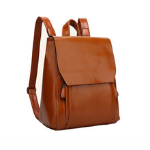New 2016 Fashion Women Backpack Casual Genuine Leather Backpack 2 Colors School Bags For Women Girls Colleges (China (Mainland))
